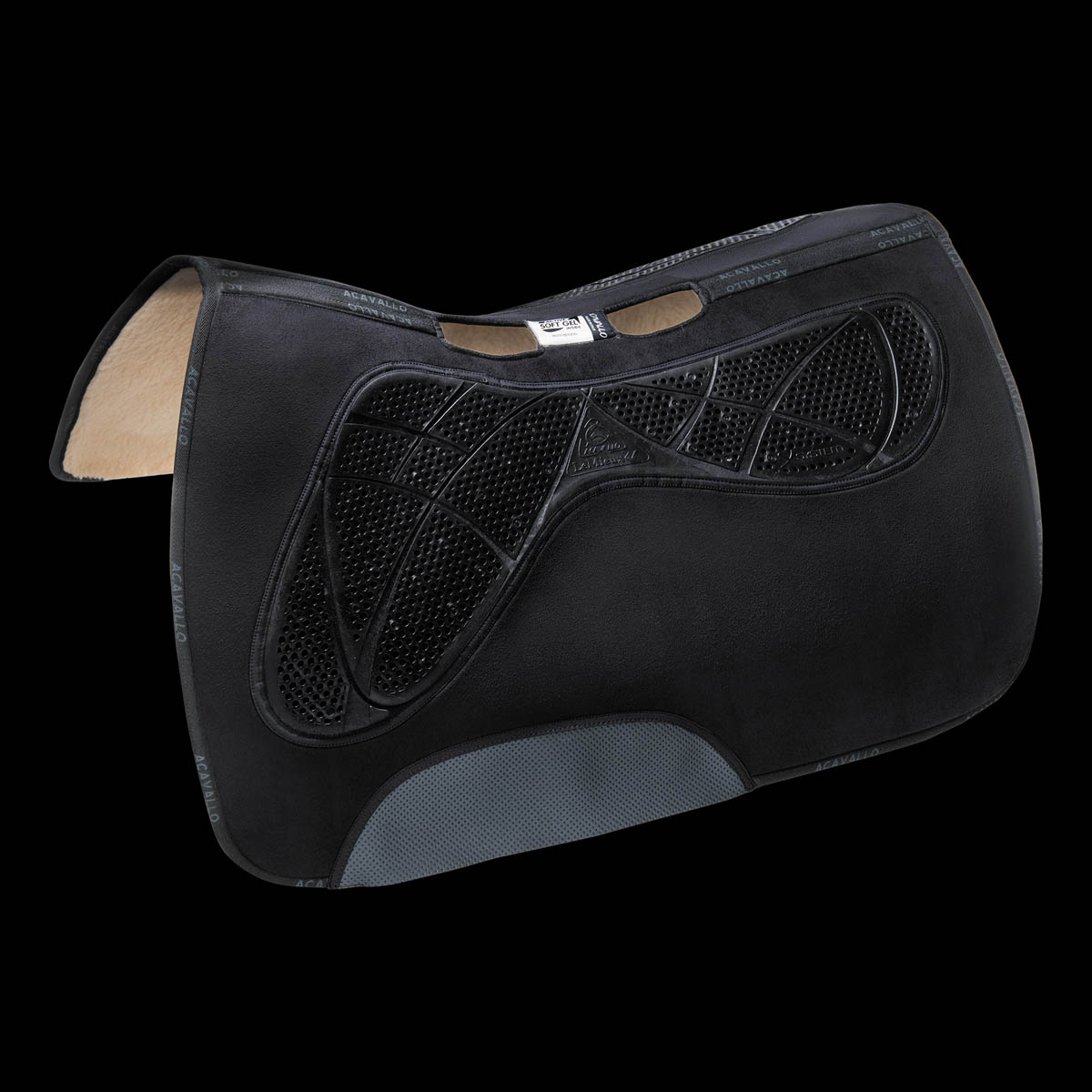 Acavallo - Western Anatomic X-Grip System Gel Pad Synthetic Wool