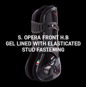 Acavallo - S. Opera Front H.B Gel Lined With Elasticated Stud Fastening